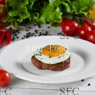 Бифштекс рубленный с яйцом