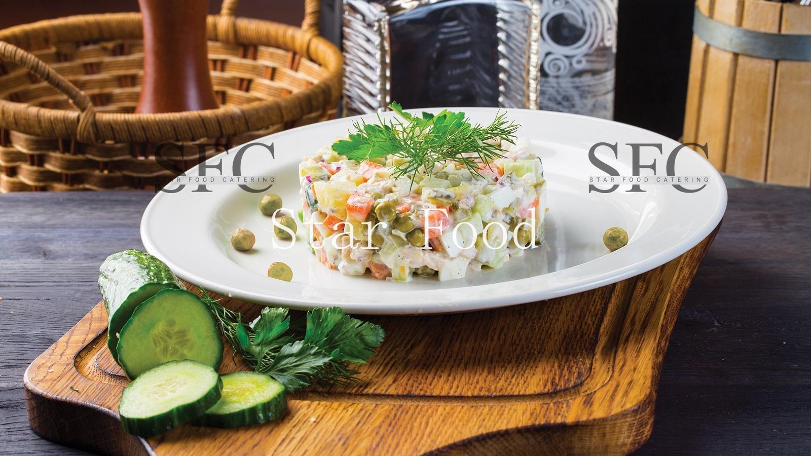 они картинки салат оливье в ресторане съемок первых серий