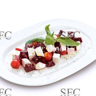 Салат «Свекла запеченая с сыром «Фета»»