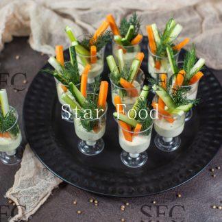 Овощные стаканчики с соусом»Айоле»