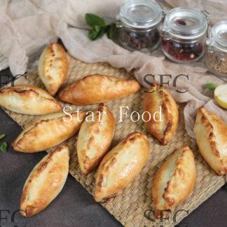 Мини-пирожок с рыбой и рисом