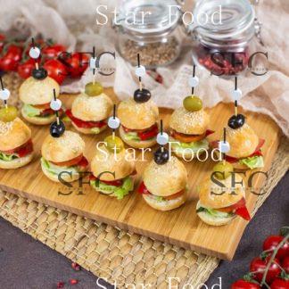 Сет Мини-бургеры с печеными овощами 10шт