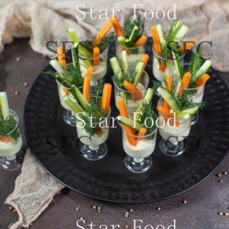 """Сет овощные стаканчики с соусом """"Айоле"""" 10 шт."""