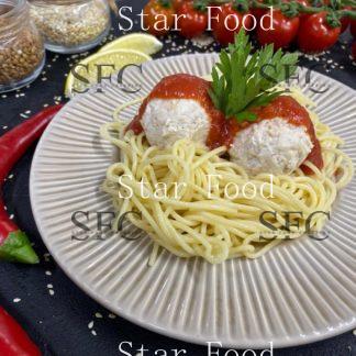 Спагетти с куриными тефтельками