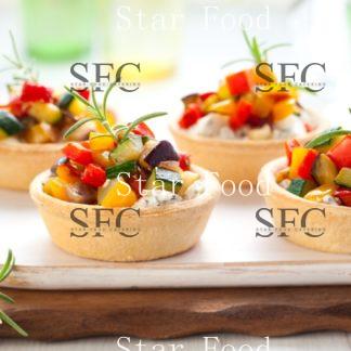 Рататуй с овощами в тарталетке