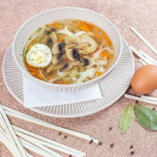 Суп лапша грибная