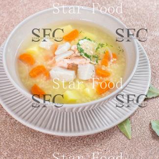 Рыбный суп с пшенкой
