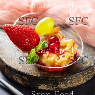 Жаренный сыр с ягодным фламбе