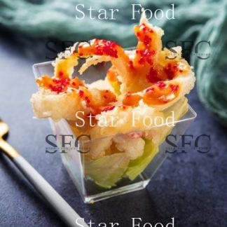 Хрустящий кальмар со спайси соусом и икрой тобико