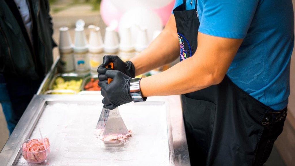 приготовление мороженого кейтеринг